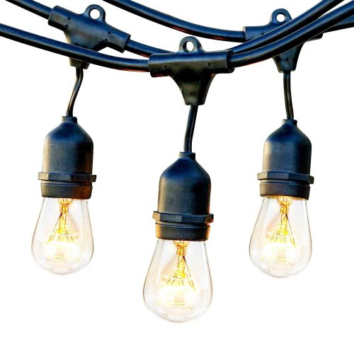 Brightech Ambience Pro Waterproof Outdoor String Lights, Cafe/Bistro