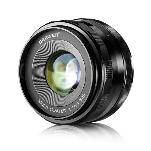 Neewer 35mm F/1.7 Large Aperture Manual Prime Fixed Lens APS-C for Sony E-Mount Digital Mirrorless Cameras NEX 3 NEX 3N NEX 5 NEX 5T NEX 5R NEX 6 7 A5000, A5100, A6000, A6100, A6300 A6500 A9