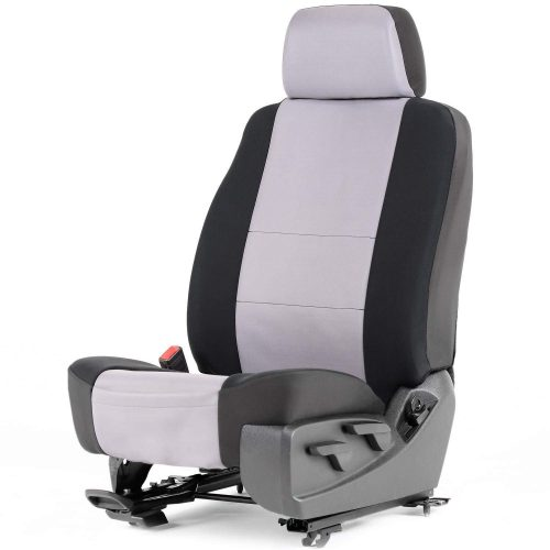 Charcoal Genuine Neoprene Low Back Bucket Seat Cover W/Headrest Cover