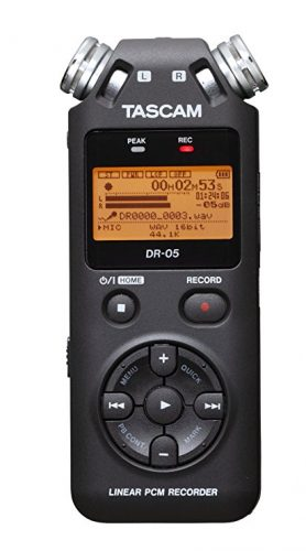 Tascam DR05 Stereo Portable Digital Recorder - Portable Digital Voice Recorders
