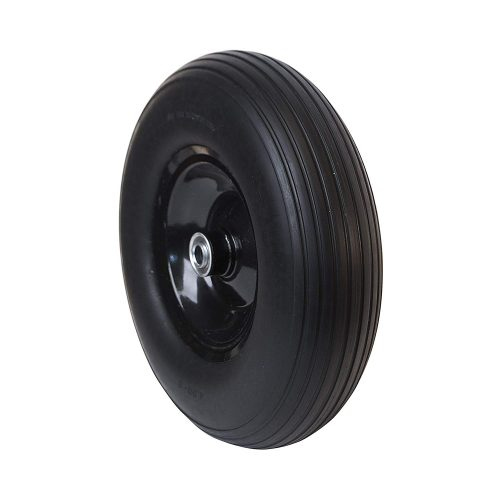 ALEKO WBNF13 Anti Flat Ribbed Replacement Wheel for Wheelbarrow 13 Inches No Flat Tire Black - Wheelbarrow Wheels