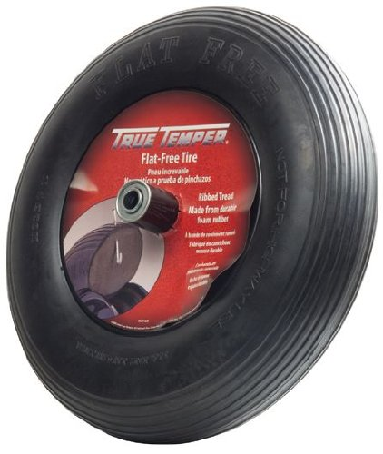 The AMES Companies, Inc True Temper 8-Inch Flat Free Solid Wheelbarrow Tire FFTCC - Wheelbarrow Wheels
