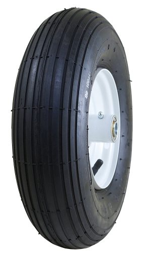 "Marathon 4.00-6"" Pneumatic (Air Filled) Tire on Wheel, 3"" Hub, 5/8"" Bearings - Wheelbarrow Wheels"