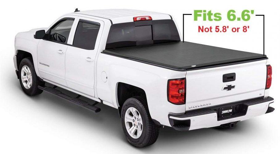 Tonno Pro Tonno Fold 42-108 TRI-FOLD Truck Bed Tonneau Cover 2014-2020 Chevrolet Silverado/GMC Sierra 1500, 2015-2020 Silverado 2500/GMC Sierra 2500, 2500 HD | Fits 6.6' Bed - Truck Bed Covers