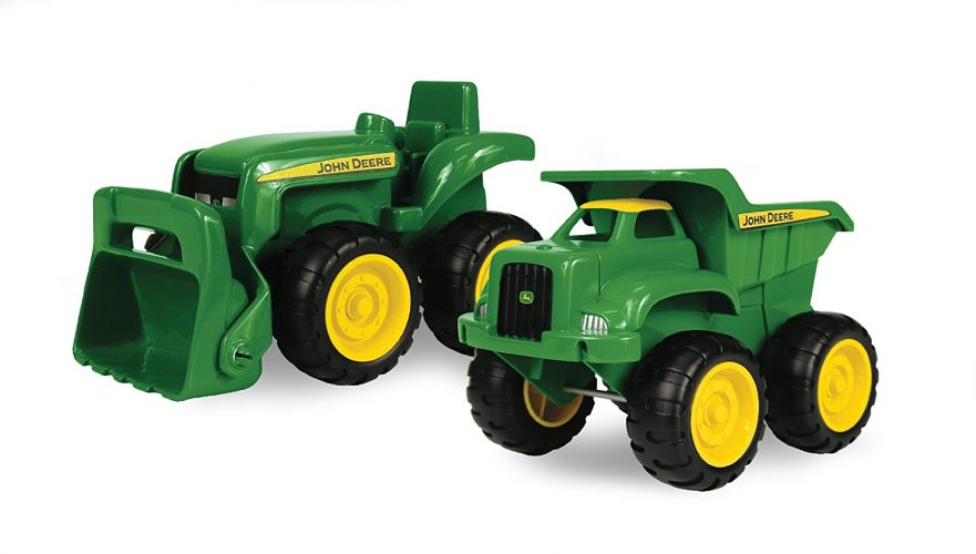 John Deere Sandbox Vehicle 2pk, Truck, and Tractor - toy trucks