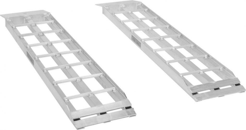 Apex Aluminum Dual Runner Shed Ramps – S-368-1500 - Lightweight & High-Strength Loading Ramps – 1,500 Pound Total Weight Capacity – Sold in Pairs – One-Year Warranty