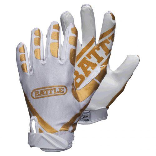 Battle Ultra Stick Youth White/Gold Gloves
