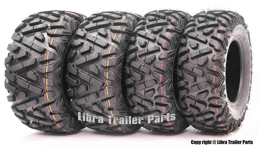 Set of 4 New WANDA ATV/UTV Tires 25x8-12 Front & 25x10-12 Rear /6PR P350 - 10163/10165