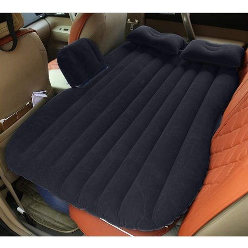 Car Bed Back Seat Inflatable Air Mattress for Camping Travel Black