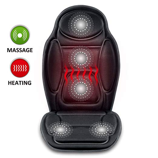 Seat Cushion Vibrating massage cushion with heat therapy for back lumbar thighs legs at home office Car