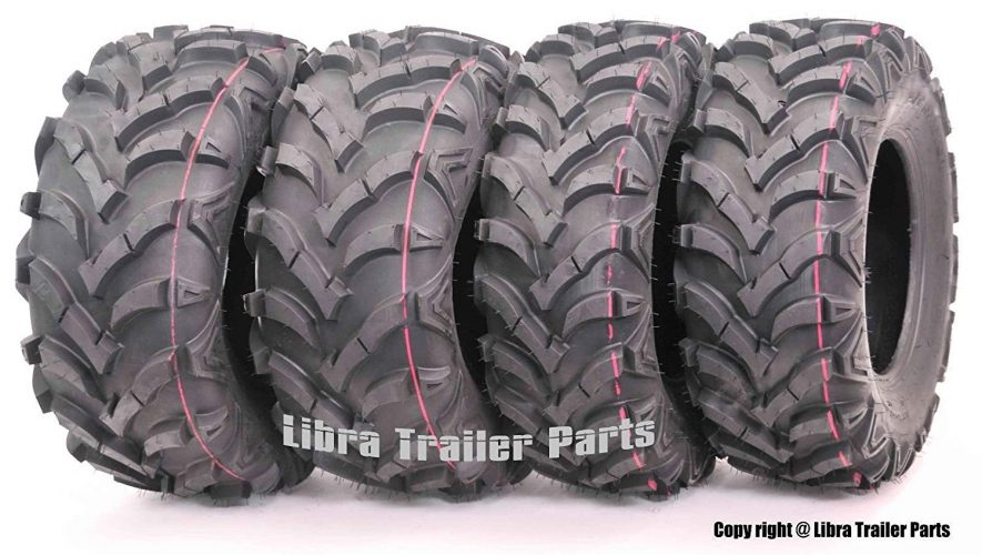 Wanda P341 Set of 4 ATV/UTV Tires 25 x 8-12 Front and 25 x 10-12 Rear