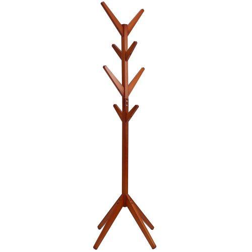 maxgoods Coat Rack Free Standing,Modern DIY Heavy Duty Entryway Wooden Clothing Rack Hat Corner Hall Umbrella Stand Tree for Bedroom Living Room Office,Easy Assamble (Size 1)