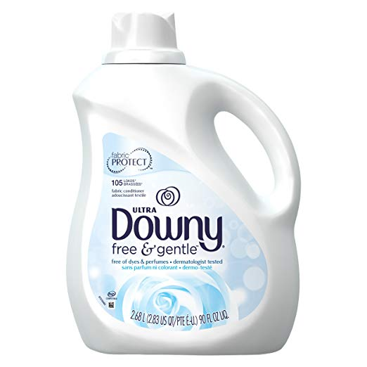Downy Ultra Fabric Softener Free and Sensitive Liquid 105 Loads, 90-Ounce