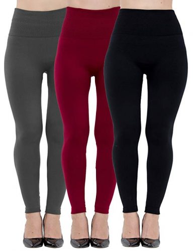 Dimore Fleece Lined Leggings for Women High Waist,Elastic and Slimming 6-Pack
