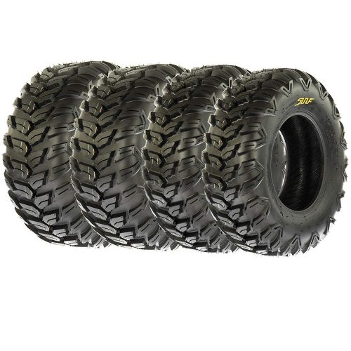 SunF A043 XC Racing ATV UTV Radial Sport Tires 25x8R12 Front & 25x10R12 Rear, 6PR, All-Terrain Off-Road & Track