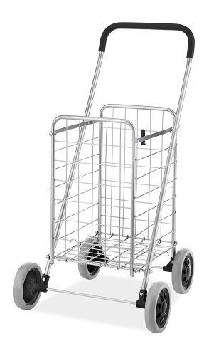 Whitmor Utility Shopping Cart - Durable Folding Design for Easy Storage