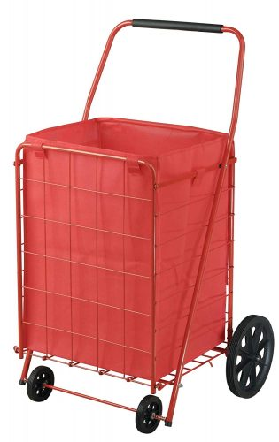 Sandusky FSC4021 Folding Shopping Cart, 110 lbs Capacity