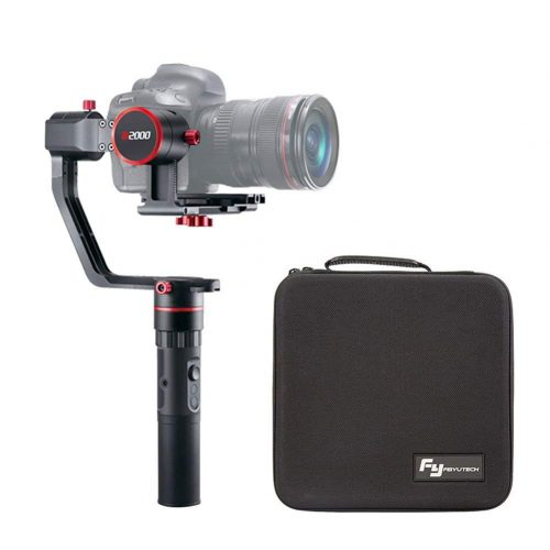 FeiyuTech a2000 3-Axis Gimbal Stabilizer for DSLR Camera,Compatible with NIKON/SONY/CANON Series Camera and Lens,2 Kilogram Payload with Carrying Bag