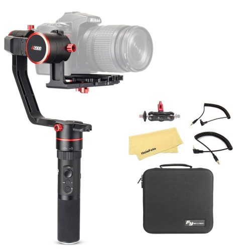 FeiyuTech Feiyu a2000 3 Axis Camera Gimbal Stabilizer for Canon 5D IV III Series, SONY A7 A7R A7S II Series, Sony a6500, A7 Series, Panasonic GH4 GH5, Payload: 250-2500g, with carrying case