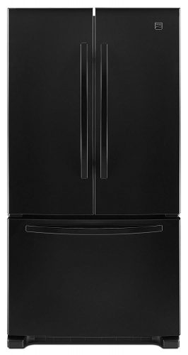 Kenmore 73009 19.5 cu. ft. Wide French Door Bottom Freezer Refrigerator in Black, includes delivery and hookup