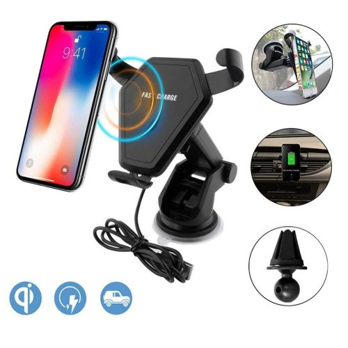 Wireless Car Charger, Sadun Qi Fast Wireless Charging Car Mount Gravity Linkage Air Vent Phone Holder for iPhone X/8/8 Plus, Samsung Galaxy Note 8/5,S8+,S7,S6 Edge+,Compatible with All Qi-Enabled