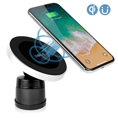 XINLON Magnetic Wireless Car Charger,Wireless Charging for Samsung S8 S8+ S8 Plus S7 S7 Edge S6 Edge Plus Note 5 Note 7 Note 8、Apple iPhone X/8/8 Plus and All QI-Enabled Devices(No Car Charger)