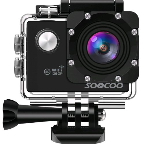 "WIFI Action Camera, SOOCOO Sports Video Camera Waterproof 12MP Full HD 1080P 2.0"" LCD 170 degree Wide Angle, 30M/98ft Underwater Diving Camera Camcorder with 2 Batteries (SD Card Not Included)-Black"