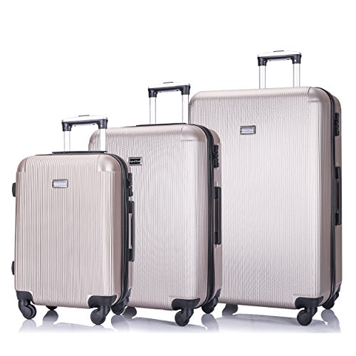 3 Piece Luggage sets Lightweight Durable Spinner Suitcase 20in24in28in - hard case suitcases