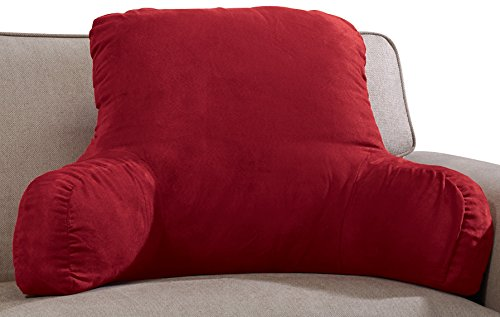 Backrest Pillow – Large Firmly Stuffed Sitting Support Bed Pillow with Arms - Rest Pillows