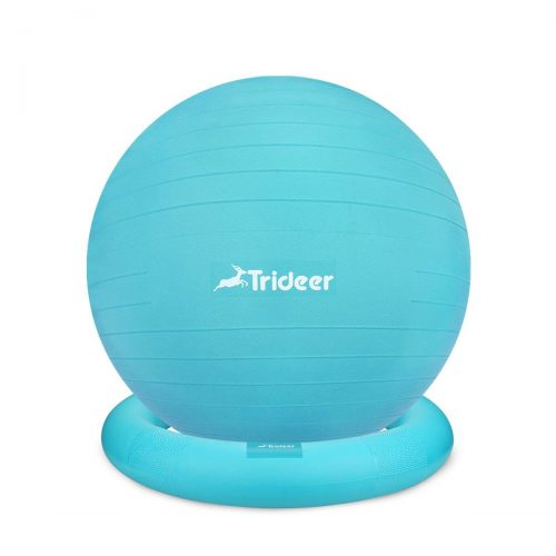Trideer Exercise Ball Chair, Stability Ball Ring & Pump - Balance Ball Chairs