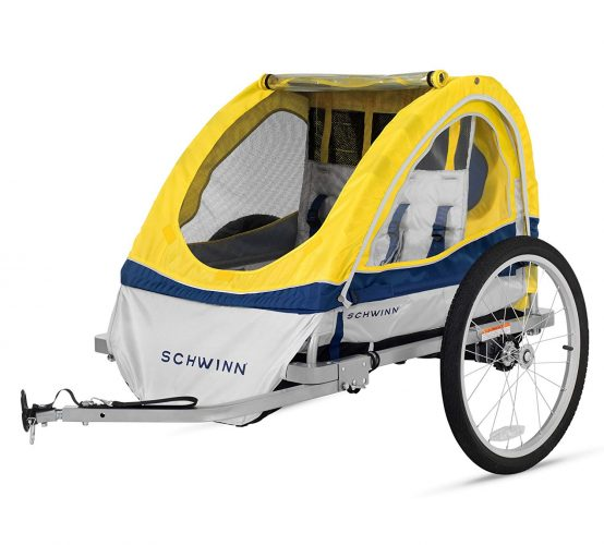 Schwinn Echo Kids/Child Double Tow Behind Bicycle Trailer - bike trailers