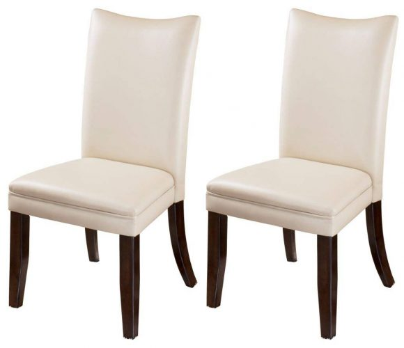 Ashley Furniture Signature Design - Charrell Dining Side Chair - Curved Back - Set of 2 - Ivory - Comfortable Dining Chair