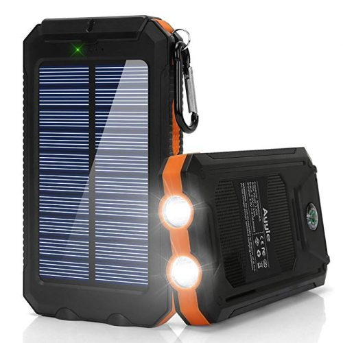 Ayyie Solar Charger,10000mAh Solar Power Bank Portable External Backup Battery - Solar Power Banks