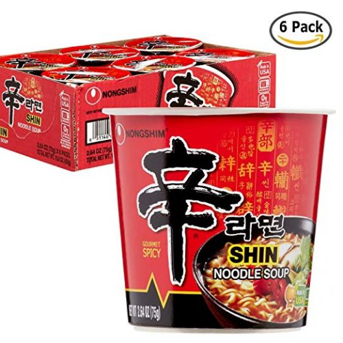 Nongshim Shin Spicy Ramen Instant Gourmet Cup Noodle - Instant Ramen