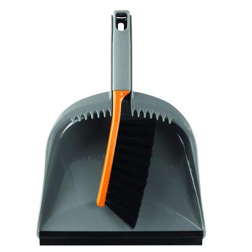 Casabella 1 Count Dustpan and Brush Set, Graphite/Orange - dust pans