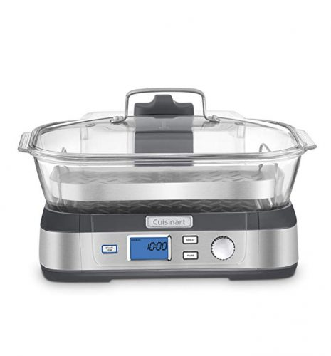 Cuisinart STM-1000 CookFresh Digital Glass Steamer, Stainless Steel - Vegetable Steamers