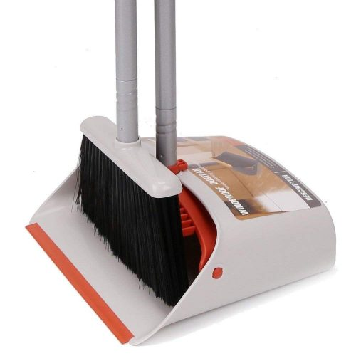 """Dust Pan and Broom Combo Set/Standing Upright Dustpan with 40""""/54"""" Long Handled Broom for home office Industry Lobby floor Sweeping - dust pans"""