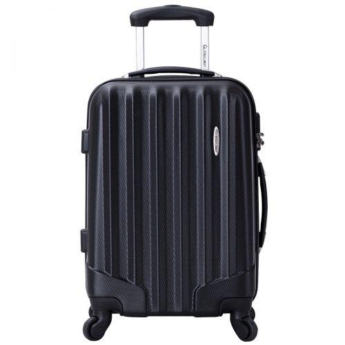 Goplus GLOBALWAY 3 Pcs Luggage Travel Set Bag ABS Trolley Suitcase w/ TSA Lock - hard case suitcases