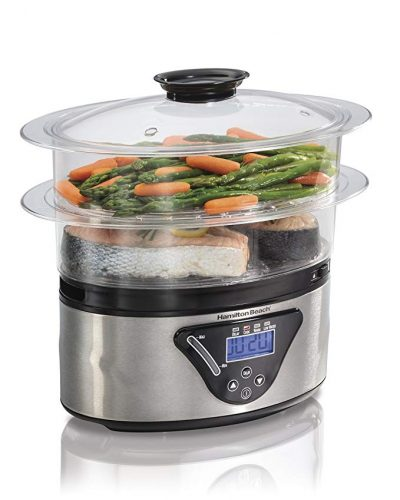 Hamilton Beach Digital Food Steamer - 5.5 Quart (37530A) - Vegetable Steamers