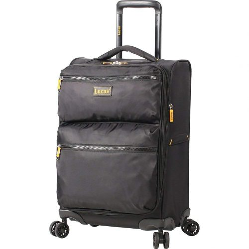 "LUCAS Ultra Light Weight Originals 20"" Exp Spinner (Black) - Lightweight luggage"
