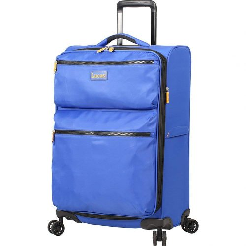 "LUCAS Ultra Light Weight Originals 24"" Exp Spinner (Blue) - Lightweight luggage"
