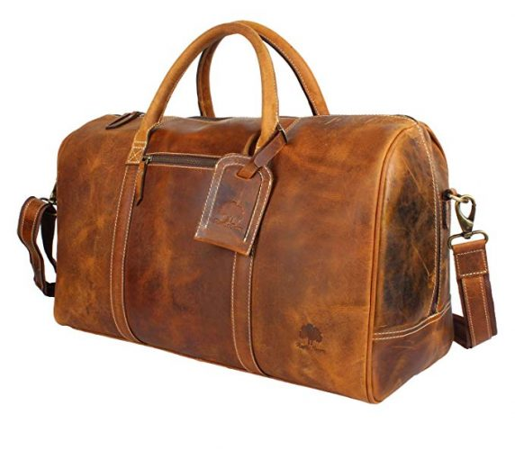 Leather Carry On Bag - Airplane Underseat Travel Duffel Bags - Leather Business Bags For Men