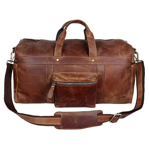 Leather Duffel Bags For Men - Airplane Underseat Carry On - Leather Business Bags For Men