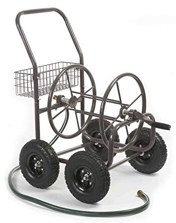 Liberty Garden Products 871-1 Residential Grade 4-Wheel Garden Hose Reel Cart