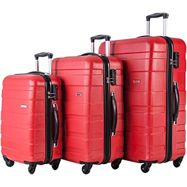 Merax MT Imagine Luggage Set 3 Piece Spinner Suitcase 20 24 28inch - hard case suitcases