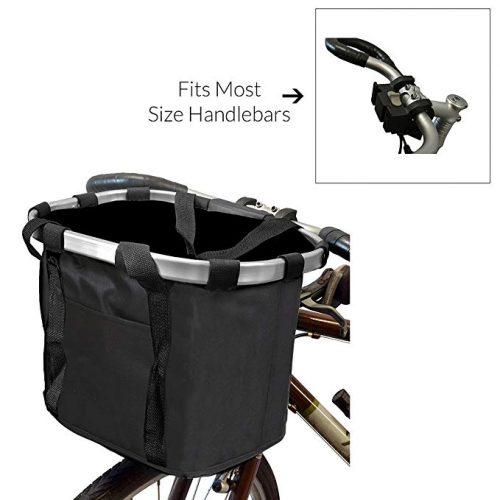 MyGift Multi Purpose Black Bicycle Basket Carrier/Car Organizer - Bike Baskets