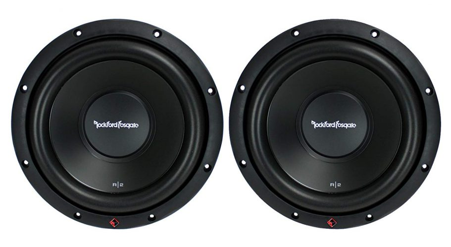 2) New ROCKFORD FOSGATE R2D2-10 1000W - Subwoofers