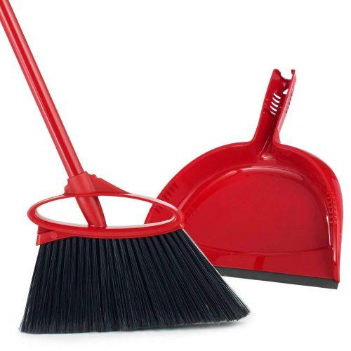 O-Cedar Angler Angle Broom With Dust Pan - dust pans