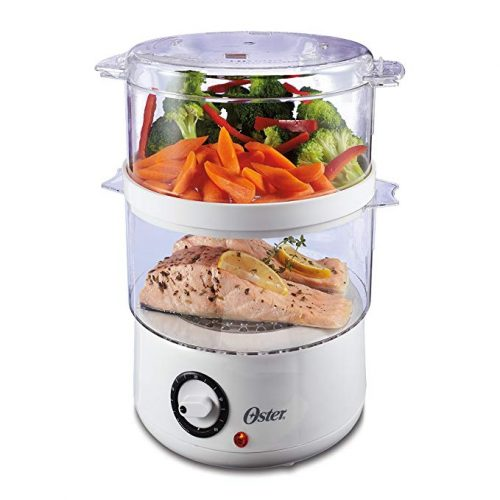 Oster Double Tiered Food Steamer, 5 Quart - Vegetable Steamers