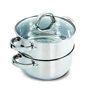 Oster Hali Steamer Set with Lid for Stovetop Use, Stainless Steel - Vegetable Steamers